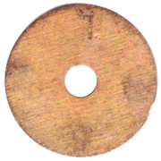 Telephone Token - MGTS (Moscow; Test, with a hole) – reverse