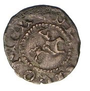 Quattrino (Right facing knight) – obverse