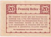20 Heller (Andorf) – reverse