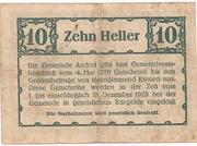 10 Heller (Andorf) – reverse