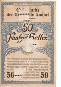 50 Heller (Andorf) -  reverse