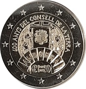2 Euro (General Council of the Valleys) -  obverse