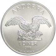 1 Diner (Andorra Eagle) – obverse
