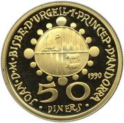 50 Diners - Joan Martí i Alanis (Antoni Gaudi) -  obverse