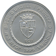 50 Diners - Joan Martí i Alanis  (Our Lady of Maritxell) -  obverse