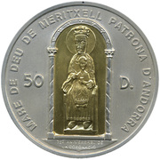 50 Diners - Joan Martí i Alanis  (Our Lady of Maritxell) -  reverse