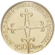 250 Diners - Joan Martí i Alanis (Andorra's Governing Charter) – obverse