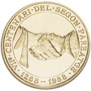 250 Diners - Joan Martí i Alanis (Andorra's Governing Charter) -  reverse