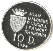 10 Diners - Joan Martí i Alanis (1996 Summer Olympics) -  obverse