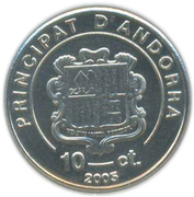 10 Centims (Pope John Paul II) -  obverse