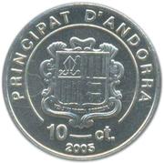10 Centims (Saint Vicenç d'Enclar) – obverse