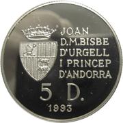 5 Diners - Joan Martí i Alanis (Andorran Circle of Arts) -  obverse