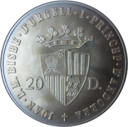 20 Diners - Joan Martí i Alanis (1988 Summer Olympics) -  obverse