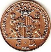 5 Diners - Joan Martí i Alanis (Joan D'Urgell I) -  obverse
