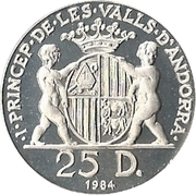 25 Diners - Joan Martí i Alanis (Joan d'Urgell I) -  obverse
