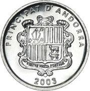 1 Cèntim - Joan Enric Vives Sicília (St. Marti de la Cortinado) – obverse