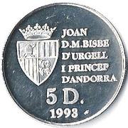 5 Diners - Joan Martí i Alanis (1994 Winter Olympics) -  obverse
