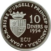 10 Diners - Joan Martí i Alanis (Andorra U.N. Membership) -  obverse