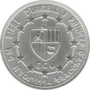20 Diners - Joan Martí i Alanis (ECU Customs Union) -  obverse