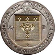 25 Diners - Joan Martí i Alanis (Jubilee) -  obverse