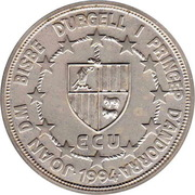 50 Diners - Joan Martí i Alanis (1st Anniversary of Andorran Constitution) -  obverse