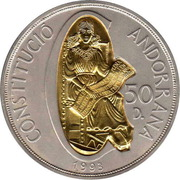 50 Diners - Joan Martí i Alanis (1st Anniversary of Andorran Constitution) -  reverse