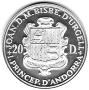 20 Diners (Christmas) -  obverse