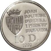 10 Diners - Joan Martí i Alanis (Brown Bear) -  obverse