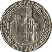 25 Diners - Joan Martí i Alanis (Millenary of the Bishop of Salla) -  obverse