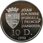 10 Diners - Joan Martí i Alanis (Discovery of America) -  obverse