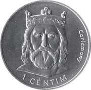 1 Cèntim - Joan Martí i Alanis (Charlemagne) – reverse