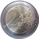 2 Euro (20 Years in the Council of Europe) – reverse