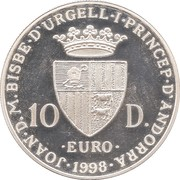 10 Diners - Joan Martí i Alanis (Europa) -  obverse