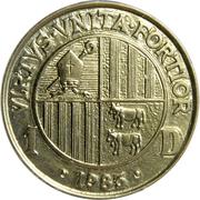 1 Diner - Joan Martí i Alanis (Joan D'Urgell I) -  obverse