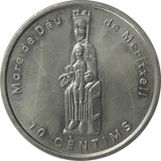 10 Centims (Our Lady of Meritxell) – reverse