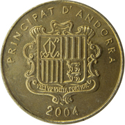 5 Centims (Lady of Canolic) – obverse