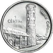 1 Cèntim - Joan Enric Vives Sicília (Santa Coloma) – reverse