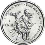 1 Cèntim - Joan Enric Vives Sicília (Sant Marti de la Cortinada) – reverse