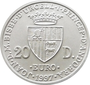 20 Diners - Joan Martí i Alanis (Treaty of Rome) -  obverse