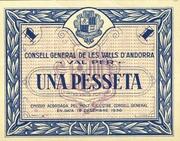1 Pesseta – obverse