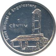 1 Centim (St. Miquel d'Engolasters) – reverse
