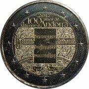 2 Euro (Anthem of Andorra) -  obverse