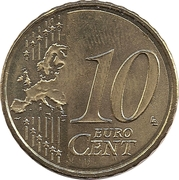10 Euro Cent – reverse