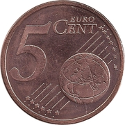5 Euro Cent – reverse
