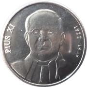 10 Centims (Pope Pius XI) -  reverse