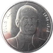 25 Centims (Pope Pius XII) -  reverse