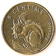 5 Centims (Squirrel) -  reverse