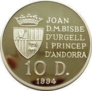 10 Diners - Joan Martí i Alanis (Discovery of the new world) -  obverse