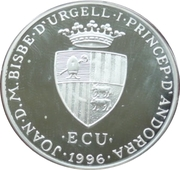 10 Diners - Joan Martí i Alanis (Frederic II on Throne) -  obverse