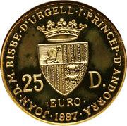 25 Diners - Joan Martí i Alanis (Treaty of Rome) -  obverse